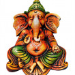Beautiful, artistic, & colorful ganesha idol who is one of the m — Stock Photo