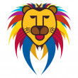 Royalty-Free Stock Immagine Vettoriale: Beautiful colorful illustration of king of jungle - the lion on