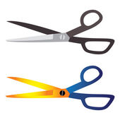 Illustration of hair-cutting, tailoring, craft tool scissors. On — Stock Vector