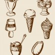 Vintage ice cream — Vector de stock