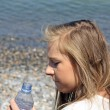 Royalty-Free Stock Photo: Teenage girl drinking water