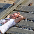 Man sun bathing — Stock Photo #11925850