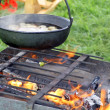 Outdoor cooking — Stock Photo