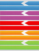 Set of ribbons — Stock Vector