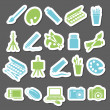 Art stickers icon — Stock Vector