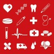 Stockvektor : Medical icons