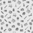 Art icons seamless pattern — Stockvektor