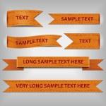 Orange ribbons — Stock Vector