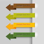 Arrow tags — Stock Vector