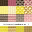 Stock Vector: Seamless patterns collection