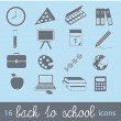 Back to school icons — Vettoriale Stock #11376003