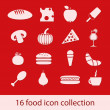 Food icons collection — Stock Vector
