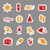 Summer stickers collection — Stock Vector