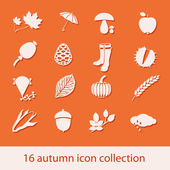 Autumn icon collection — Stock Vector
