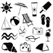 Summer doodle collection — Stock Vector
