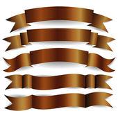 Brown ribbons — Stock Vector