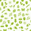 Nature seamless pattern — Stock Vector