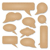 Leather communication bubbles — Stock Vector