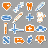 Medical stickers — Stock Vector