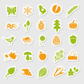 Nature stickers — Stok Vektör