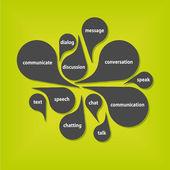 ανακοίνωση φυσαλίδες — Διανυσματικό Αρχείο