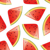 Watermelon seamless pattern — Stock Vector