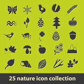 Nature icons — Stok Vektör