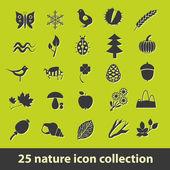 Naturen ikoner — Stockvektor