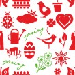Seamless doodle spring pattern — Stockvectorbeeld