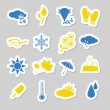 Weather stickers — Stock Vector #11935003
