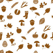 Autumn seamless pattern — Stok Vektör