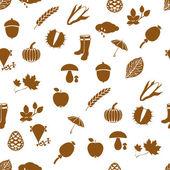 秋のシームレスなパターン — ストックベクタ