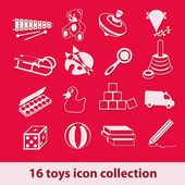 Toys icons — Stock Vector