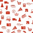 Stok Vektör: Shopping seamless pattern
