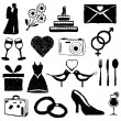 Wedding doodle images — Stock Vector