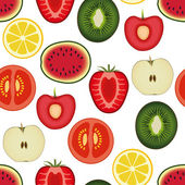 Fruit seamless pattern — Stock Vector