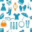 Seamless doodle fashion pattern — Stockvectorbeeld