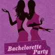 Illustration poster for bachelorette party. — Stock Vector #11404534
