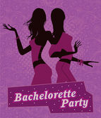 Illustration poster for bachelorette party. — Stock Vector