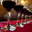 Stock Photo: Glasses red wine degustation