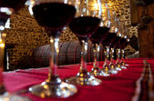 Glasses red wine degustation — Stock Photo
