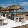 Restaurant on the beach in Greece — Stock Photo