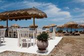 Greek taverna on the beach — Stock Photo