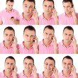 Male expressions on the phone — Stock Photo #11537865