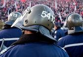 Stadium police crowd — Стоковое фото