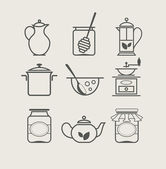 Tableware set icon — Stock Vector