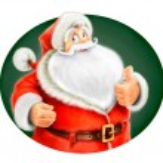 Marry Santa Claus show ok — Stock Photo