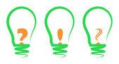 Concept, symbolizing the light bulb — Stock Vector
