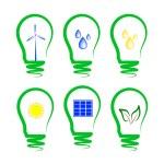 Concept, symbolizing the alternative energy — Stock Vector #10993070