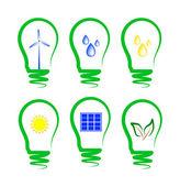 Concept, symbolizing the alternative energy — Stock Vector